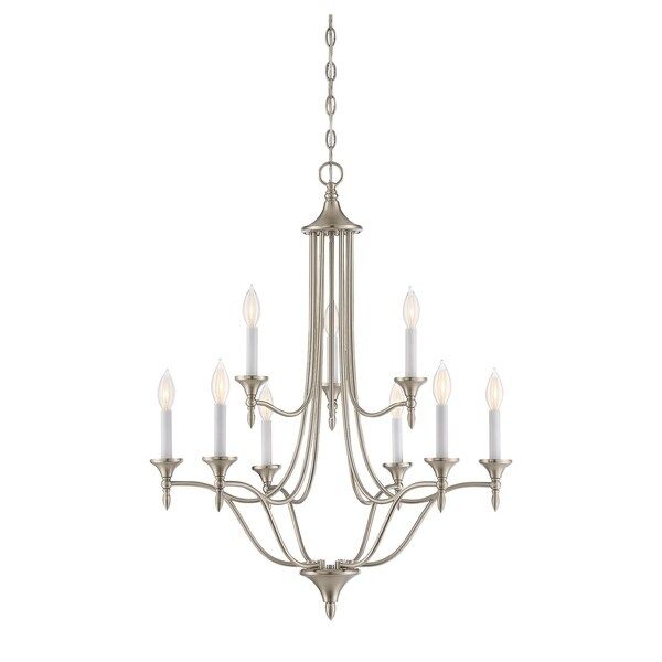 Savoy House Herndon Satin Nickel 9-light Chandelier
