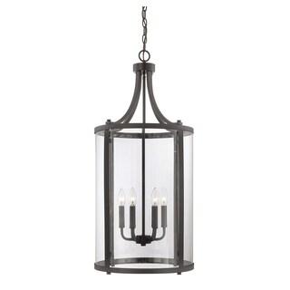Penrose English Bronze 6-light Medium Foyer Lantern