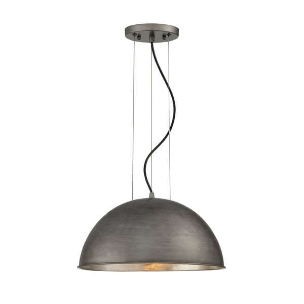 Savoy House Sommerton Rubbed Zinc with Silver Leaf Metal 1-light Pendant
