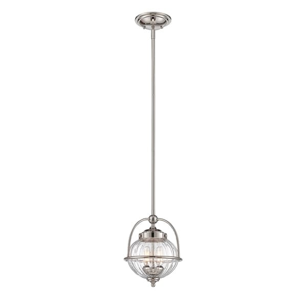 Banbury 2 Light Pendant Polished Nickel