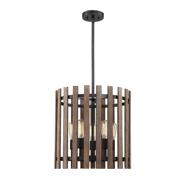 Santiago 5 Light Pendant Sapele