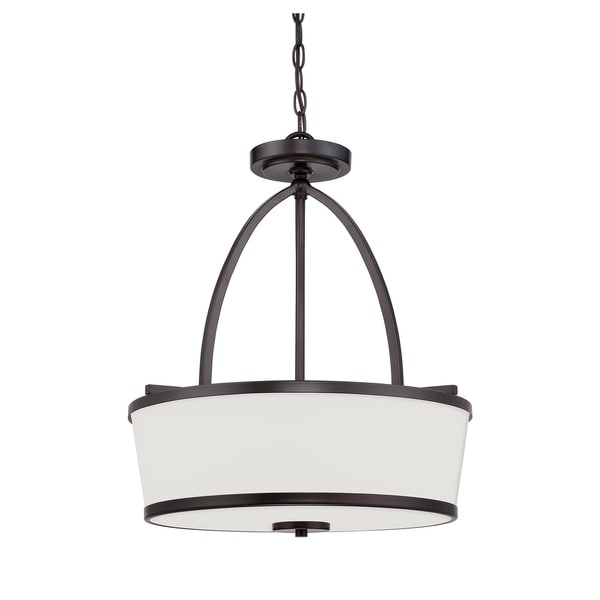 Hagen 3 Light Pendant English Bronze