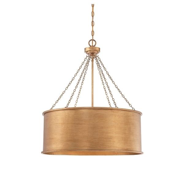 Rochester 6 Light Pendant Gold Patina