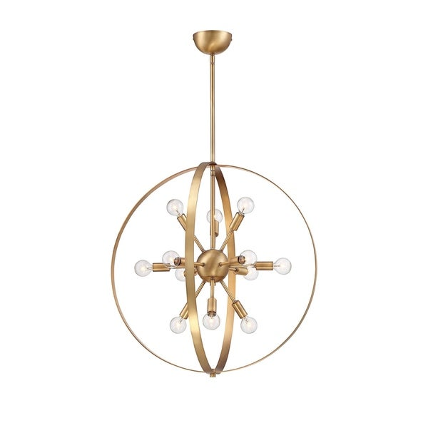 Savoy House Marly Warm Brass 12-light Chandelier