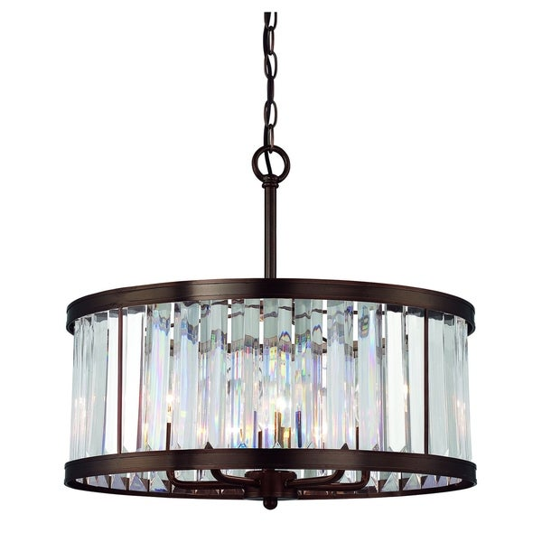 Tierney 5 Light Pendant Burnished Bronze