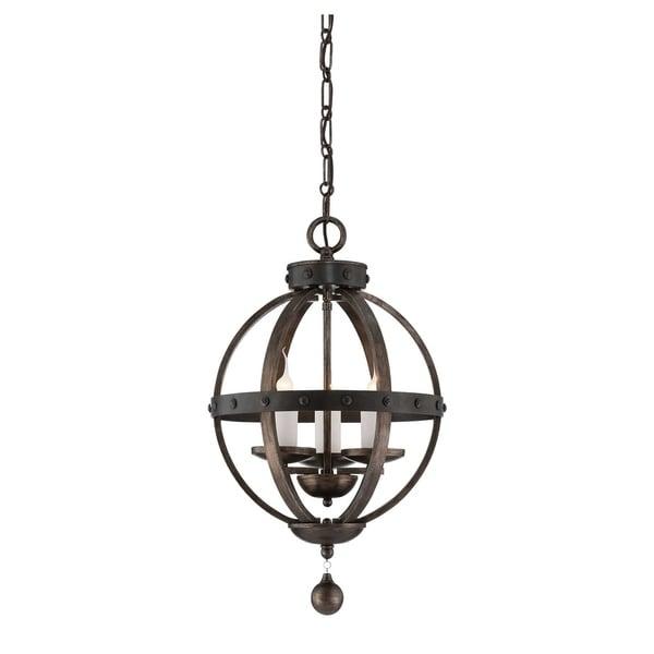 Savoy House Alsace Reclaimed Wood 3-light Pendant