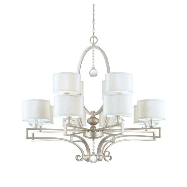 Savoy House Rosendal Silver Sparkle 12-light Chandelier