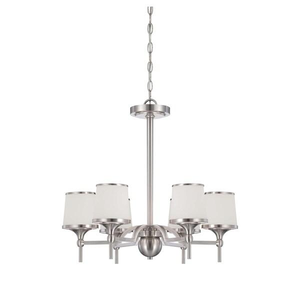 Savoy House Hagen Satin Nickel 6-light Chandelier