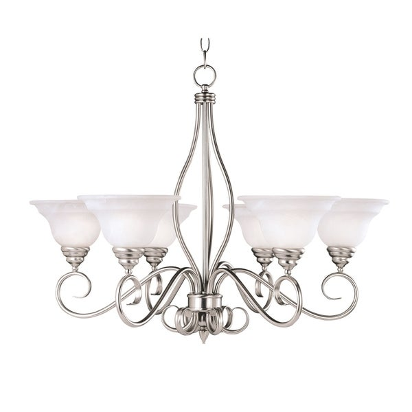 Savoy House Polar Pewter Metal 6-light Chandelier