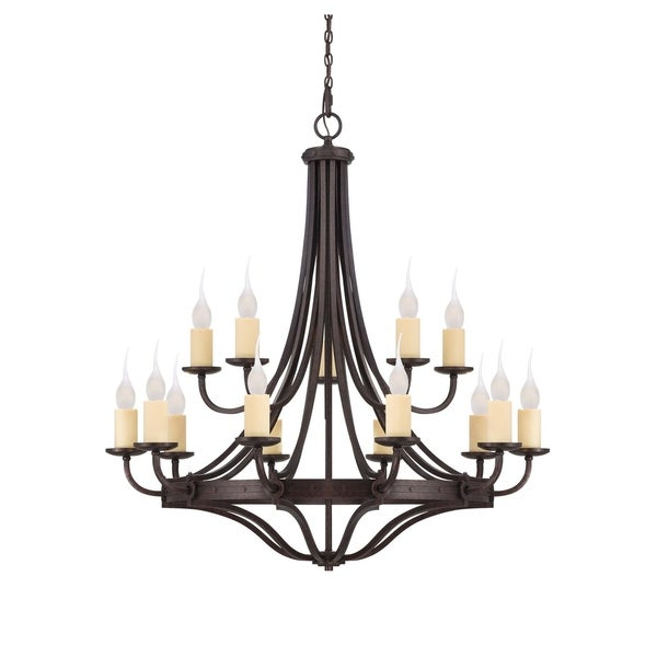 Savoy House Elba Oiled Copper Iron 15-light Chandelier