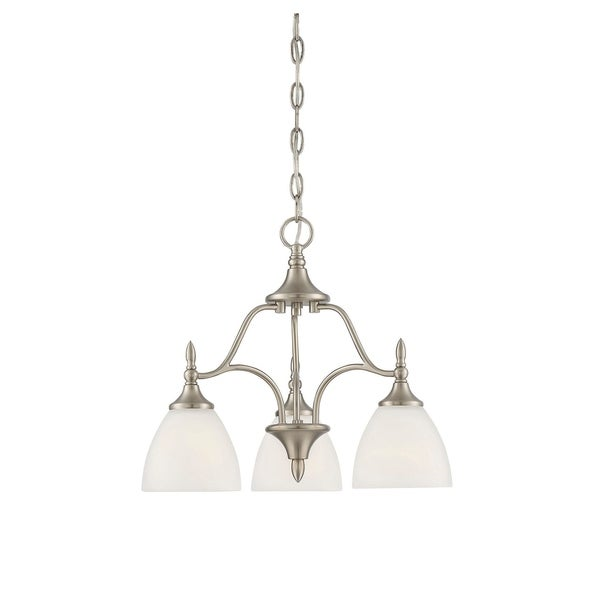 Herndon 3 Light Chandelier Satin Nickel