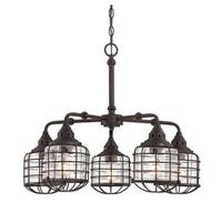 Connell 5 Light Chandelier English Bronze