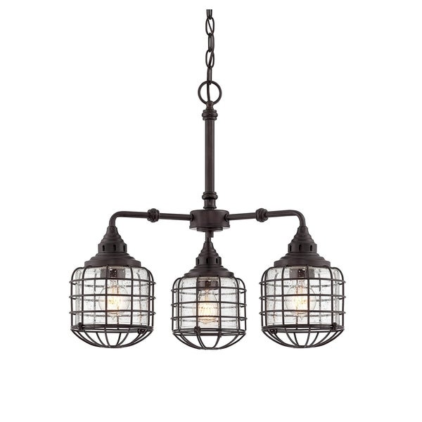 Savoy House Connell Bronze Metal 3-light Chandelier