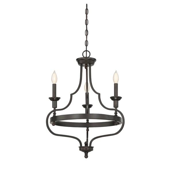 Savoy House Sheilds English Bronze 3-light Chandelier