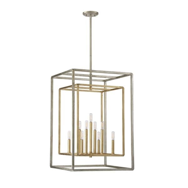 Savoy House Berlin Silver and Gold Metal 9-light Foyer Pendant