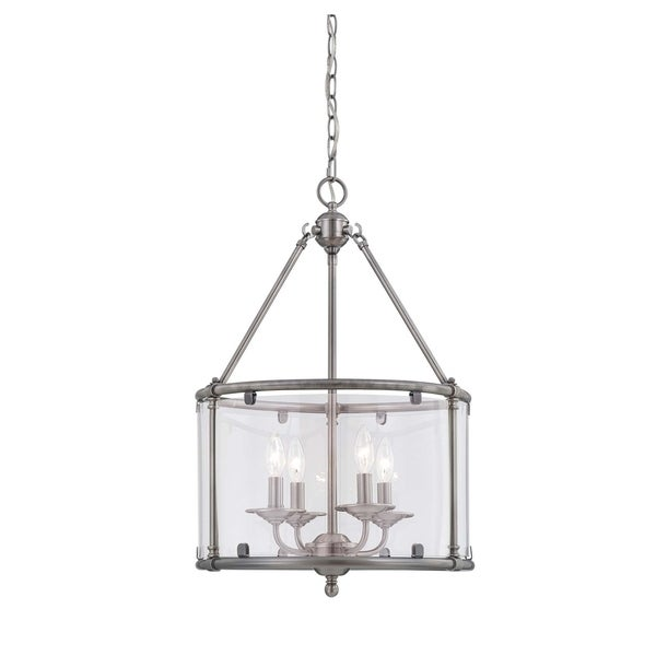 Savoy House Foxcroft Brushed Pewter 4-light Foyer