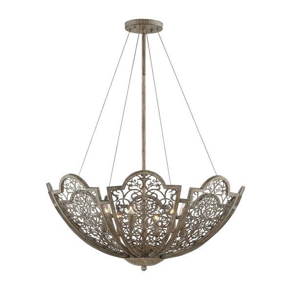 Hartland 6 Light Pendant Aged Wood