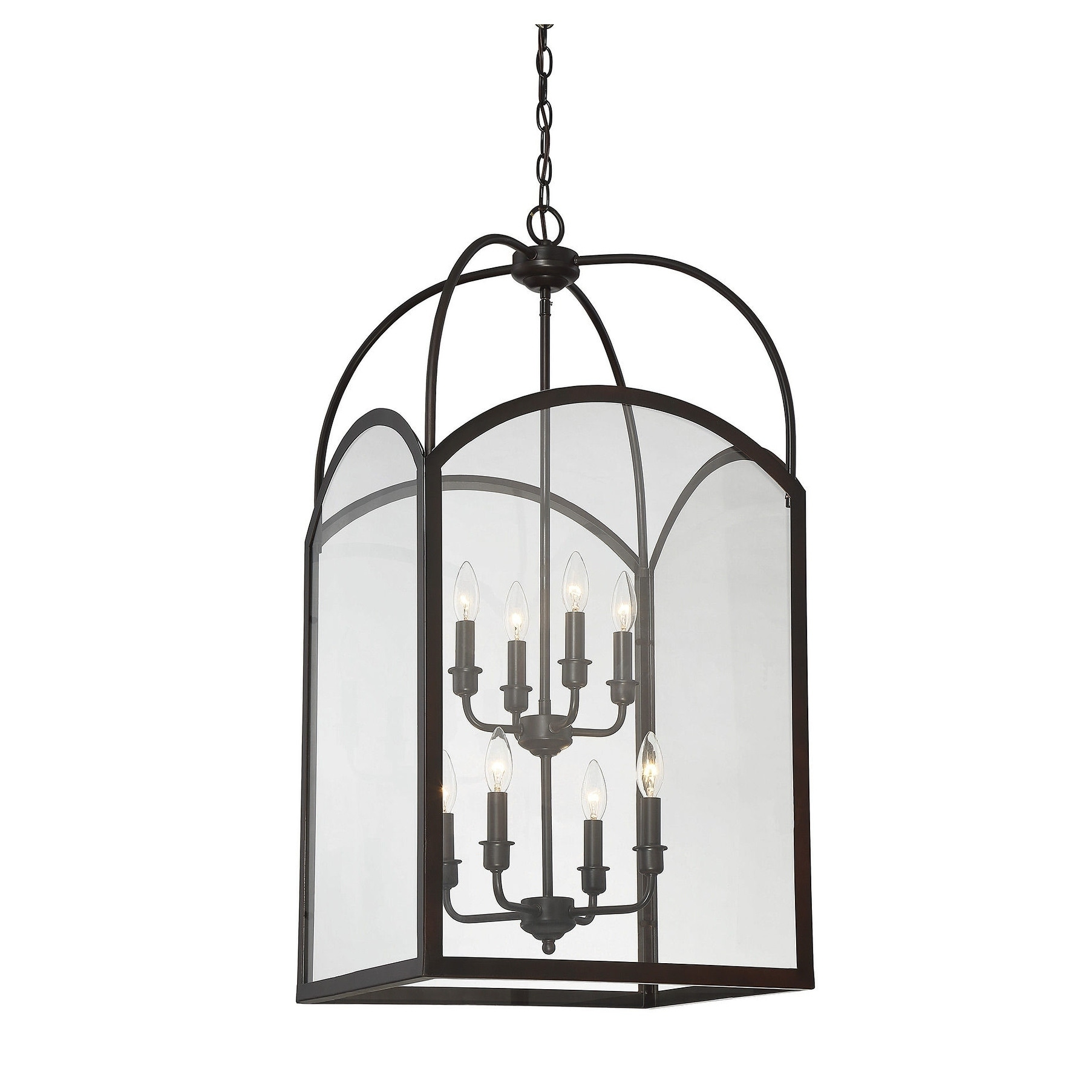 Garrett 8 Light Foyer English Bronze