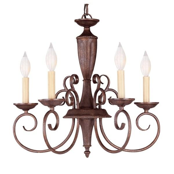 Savoy House Liberty Walnut Patina Metal 5-light Chandelier