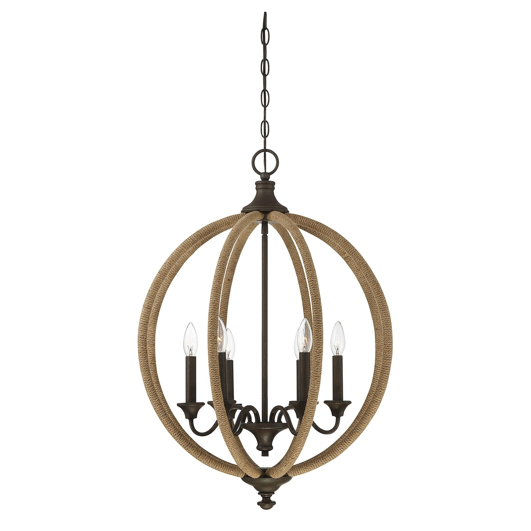 Findlay 6 Light Pendant Artisan Rust