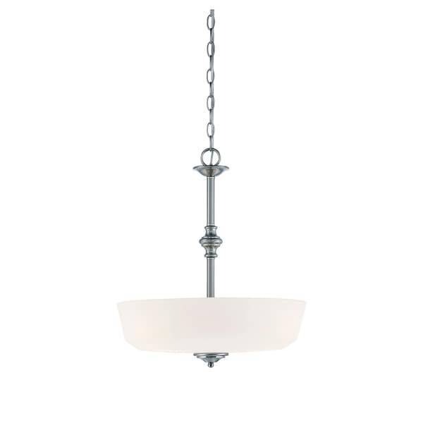 Melrose 3 Light Pendant Polished Chrome