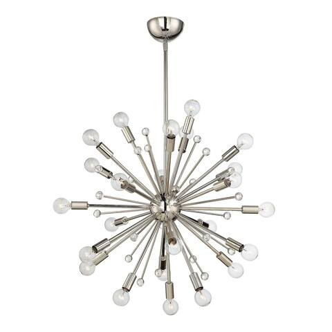 Carson Carrington Skudeneshavn 24-light Polished Nickel Chandelier