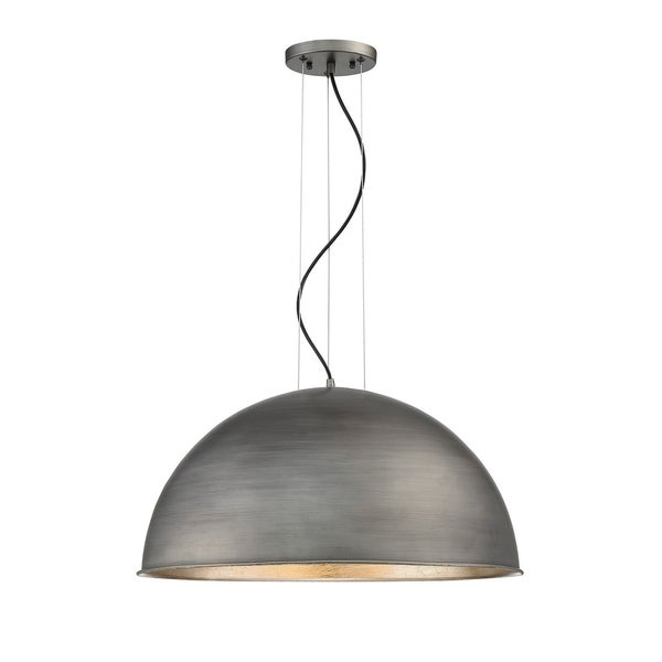 Savoy House Sommerton Rubbed Zinc With Silver Leaf 3-light Pendant