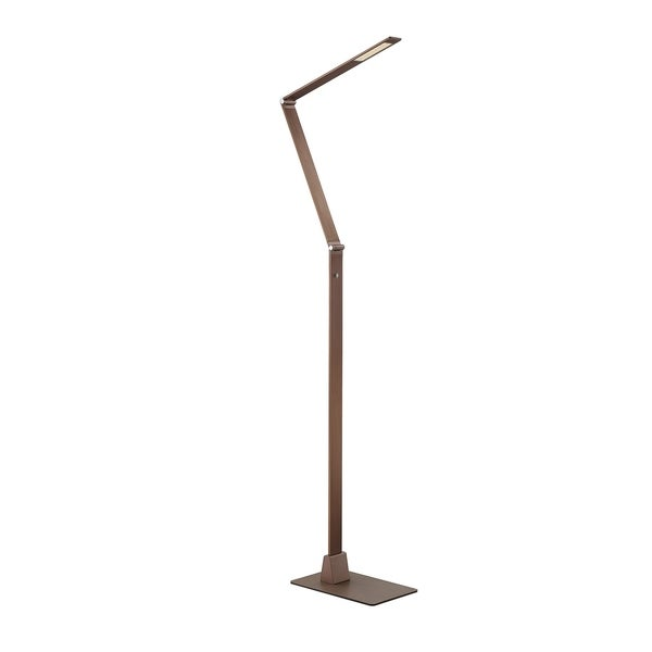Savoy House Fusion Z Rose-gold Metal LED Floor Lamp