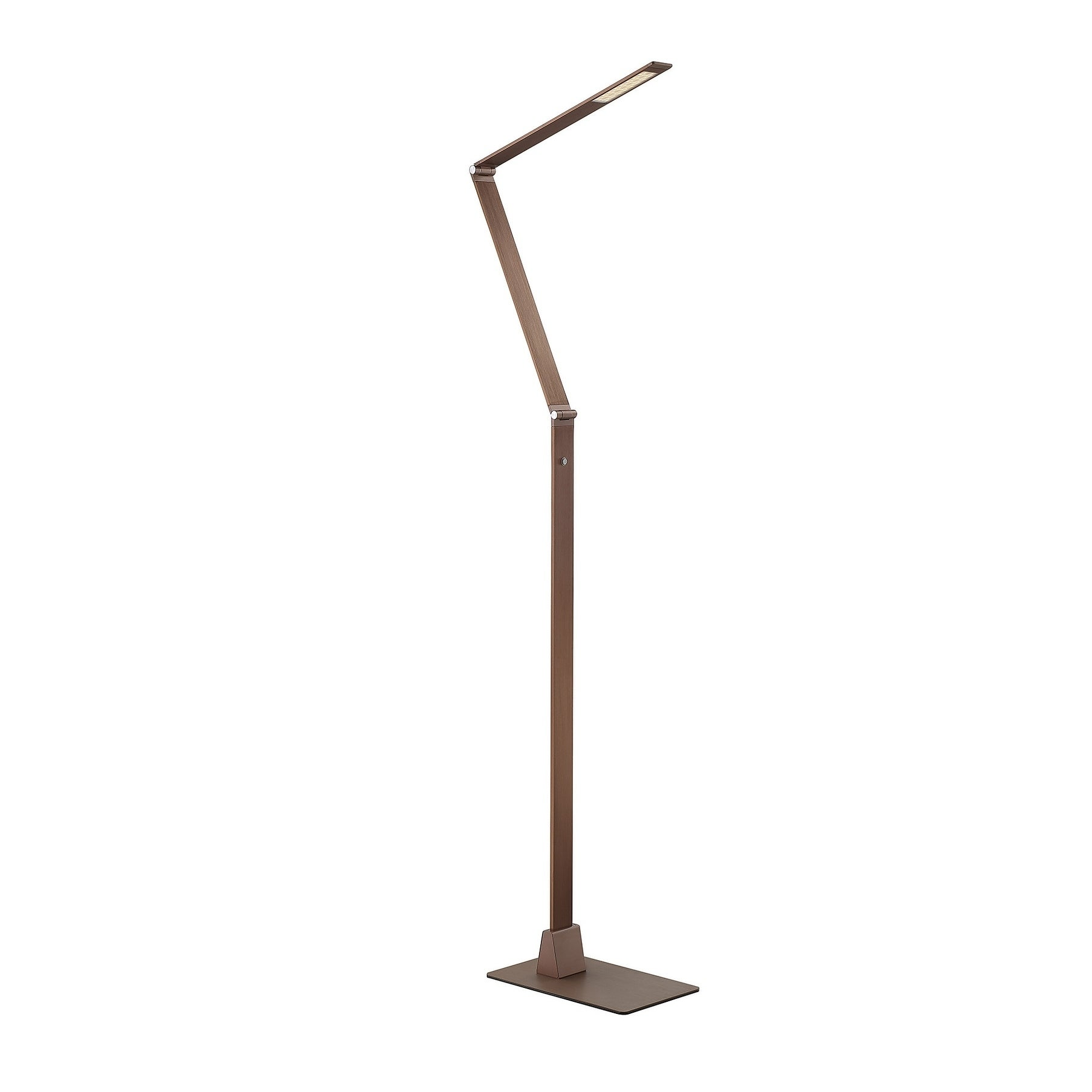 Fusion Z LED Floor Lamp with Dimmer Rose Gold Bronze