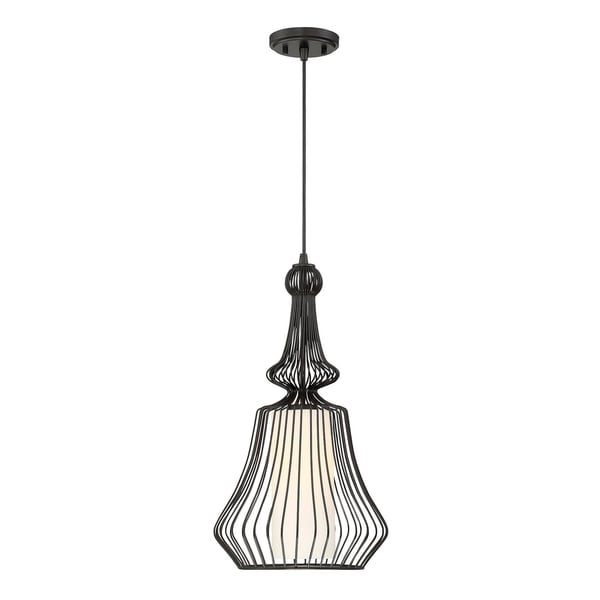 Savoy House Laporte Matte Black 1-light Pendant