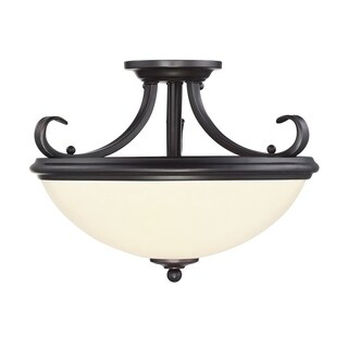 Willoughby Semi Flush English Bronze