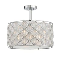 Savoy House Opus Polished Chrome 3-light Semi-flush Fixture