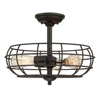 Scout 3 Light Semi-Flush English Bronze