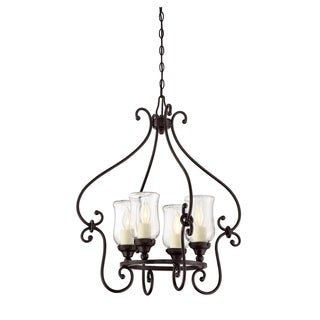Weston 4 Light Outdoor Chandelier English Bronze