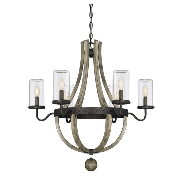 The Gray Barn Lunasa Weathervane 6-light Outdoor Chandelier. Opens flyout.