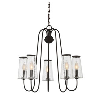 Oleander 5 Light Outdoor Chandelier English Bronze