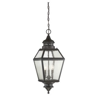 "Chiminea 11"" Hanging Lantern English Bronze"