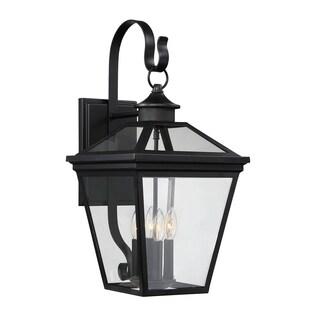 Ellijay Black Steel 12-inch Steel Wall Lantern