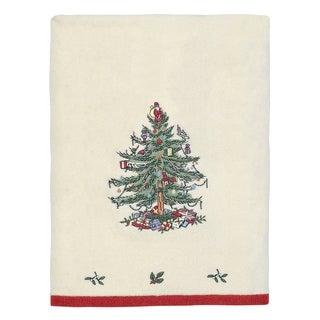 Spode Tree Red Bath Towel