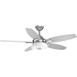 Progress Lighting Graceful Collection Polished Chrome 54-inch Fan