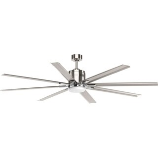 Progress Lighting Vast Collection Brushed Nickel 72-inch 8-blade Fan