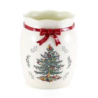 Spode Tree Red Wastebasket