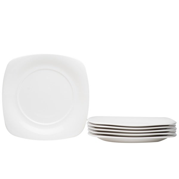 Hospitality White Square Dinner Plate - Set of 6