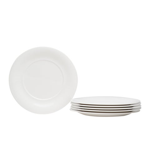 Hospitality White Round Salad Plate - Set of 6