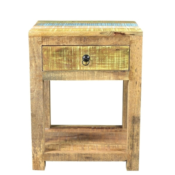 Timbergirl Suman Solid Mango Wood End Table   Free Shipping Today    Overstock.com   23613553