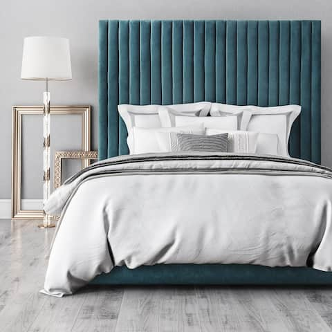 Arabelle Sea Blue Velvet Bed