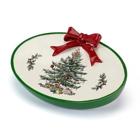 Spode Tree Red Soap Dish - N/A