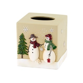 Snowmen Gathering Tissue Cover