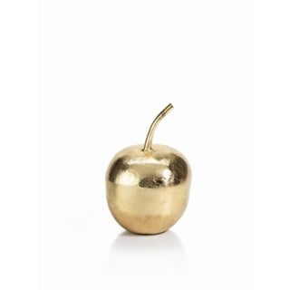 """6"""" Tall Apple Figurine Holiday Accent, Gold (Set of 2)"""