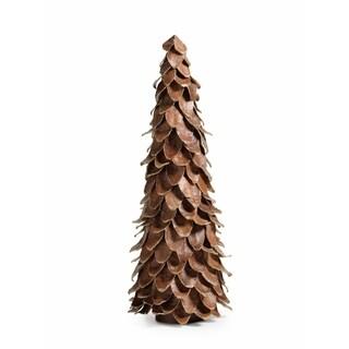 "22"" Tall Mahogany Leaf Cone Christmas Tree"